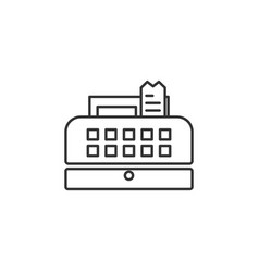 cash register line icon simple modern flat for vector image