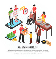 charity for homeless design concept vector image