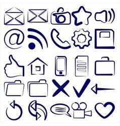 Computer Icon Collection symbols vector image