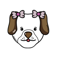 Cute dog female pet animal vector