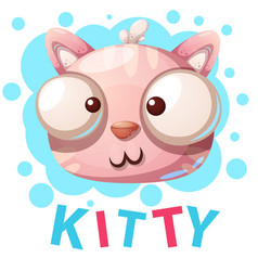 cute kitty cat characters - cartoon vector image
