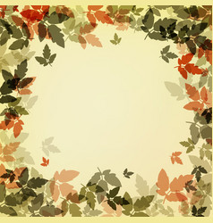 dark autumn leaves on bright background vector image
