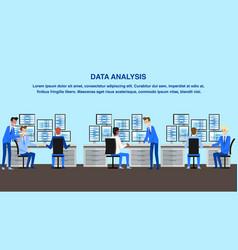 Data analysis office technology center workspace vector