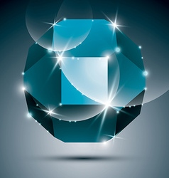 Dimensional turquoise sparkling orb dazzling vector