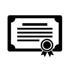 Diploma certificate award icon vector