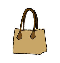 drawing handbag elegant fashion female vector image
