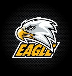 eagle head from side can be used for club or team vector image