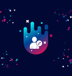 Edit user simple icon profile avatar sign vector
