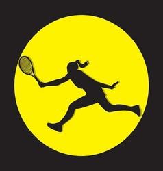Female tennis player silhouette vector