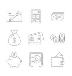 Finance Icons Line vector image