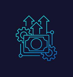 Financial efficiency linear icon vector