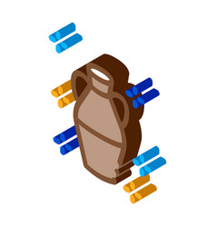 Finished clay vase isometric icon vector