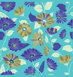 floral pattern garden flower seamless background vector image