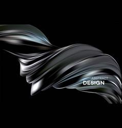 Fluid poster design abstract 3d shape template vector