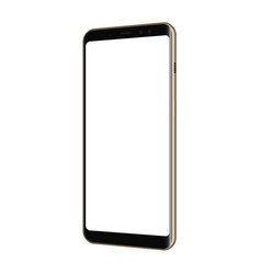 Frameless smartphone mockup - half side view vector