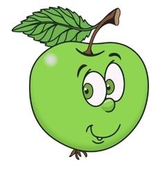 Fresh apple cartoon vector