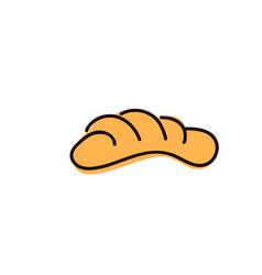 freshly baked buns isolated on white background vector image