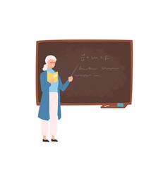 friendly elderly female school or college teacher vector image
