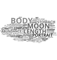 full word cloud concept vector image