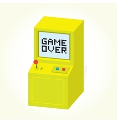 Game over on arcade machine isolated vector