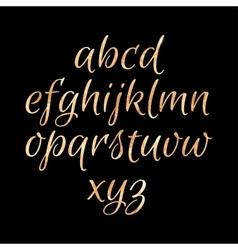 Golden glittering Alphabet vector