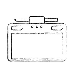 graphic tablet with pen digital work equipment vector image