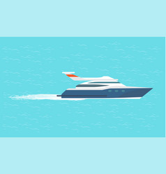 guarding transport boat in ocean rescue emergency vector image