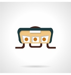 Handlebar panel flat icon vector