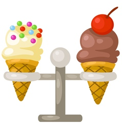 ice cream cone vector image