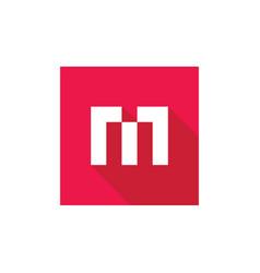 initial alphabet m logo design m letter icon vector image
