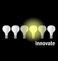 Innovate on black vector