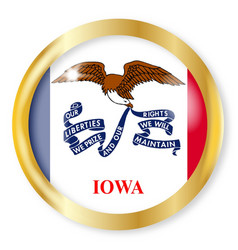Iowa flag button vector
