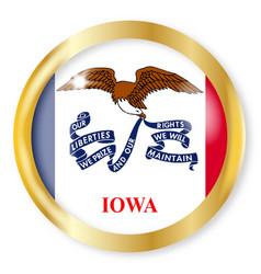 Iowa flag button vector