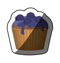 Isolated blueberry cupcake design vector