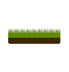 isolated pixelated grass icon vector image