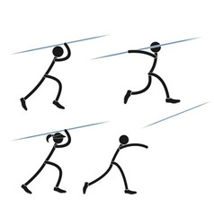Javelin throwing vector image