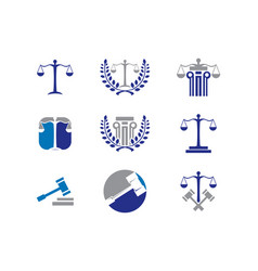 Law logo collection vector
