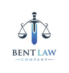 Legal logo design vector