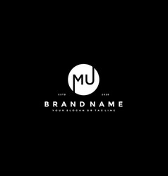 Letter mu logo design vector