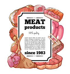 meat delicatessen product banner with copy space vector image