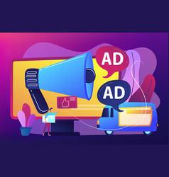 outdoor advertising design concept vector image