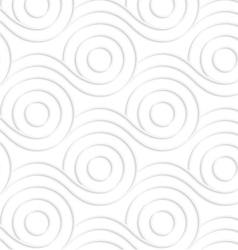 Paper white rolling contoured spools vector