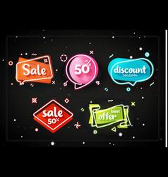 promo banner geometric bubbles vector image