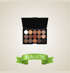 Realistic eyeshadow set element vector