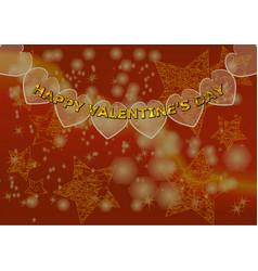 red background for valentines day vector image