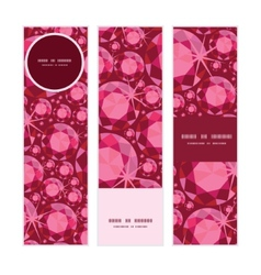 Ruby vertical banners set pattern background vector