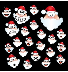 Santa Claus icon set vector image