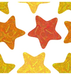 Seamless texture with stars in Tribal style vector image