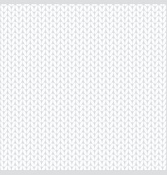 seamless white knitted pattern cartoon vector image