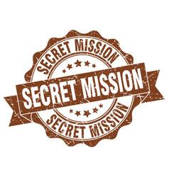 Secret mission stamp sign seal vector
